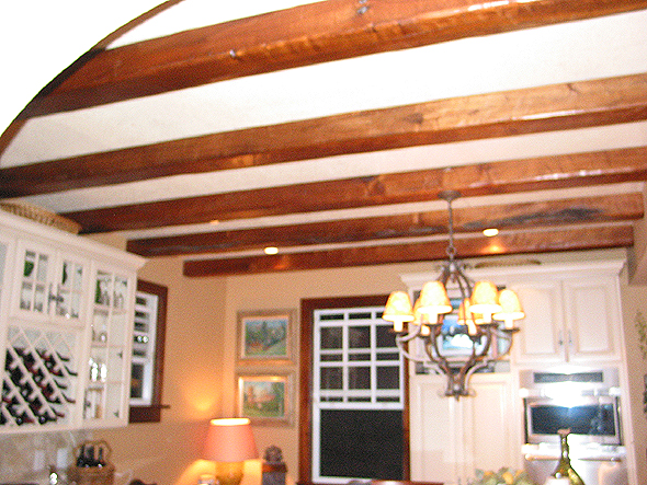 Custom woodwork florida custom carpentry custom for How to add beams to a ceiling
