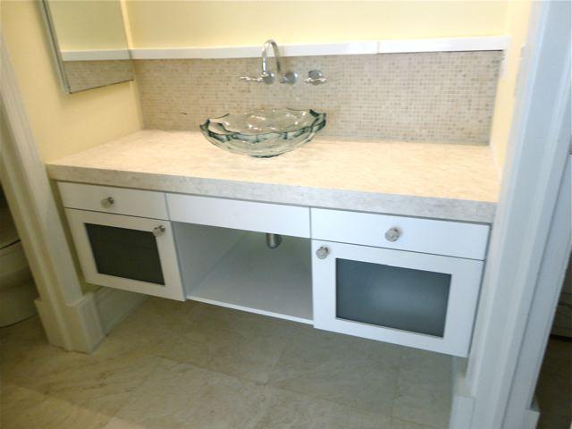 Custom Bath Vanity WinterWoodWorks - Suspended bathroom vanity