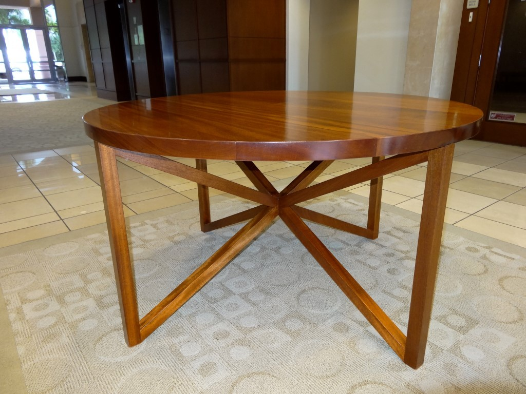 Commercial Mall Lobby Table custom designed for Miami building