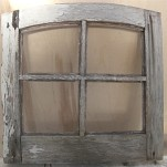 Old wood frame window Before restoration